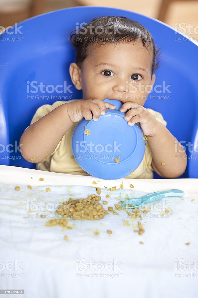 Eating baby. royalty-free stock photo