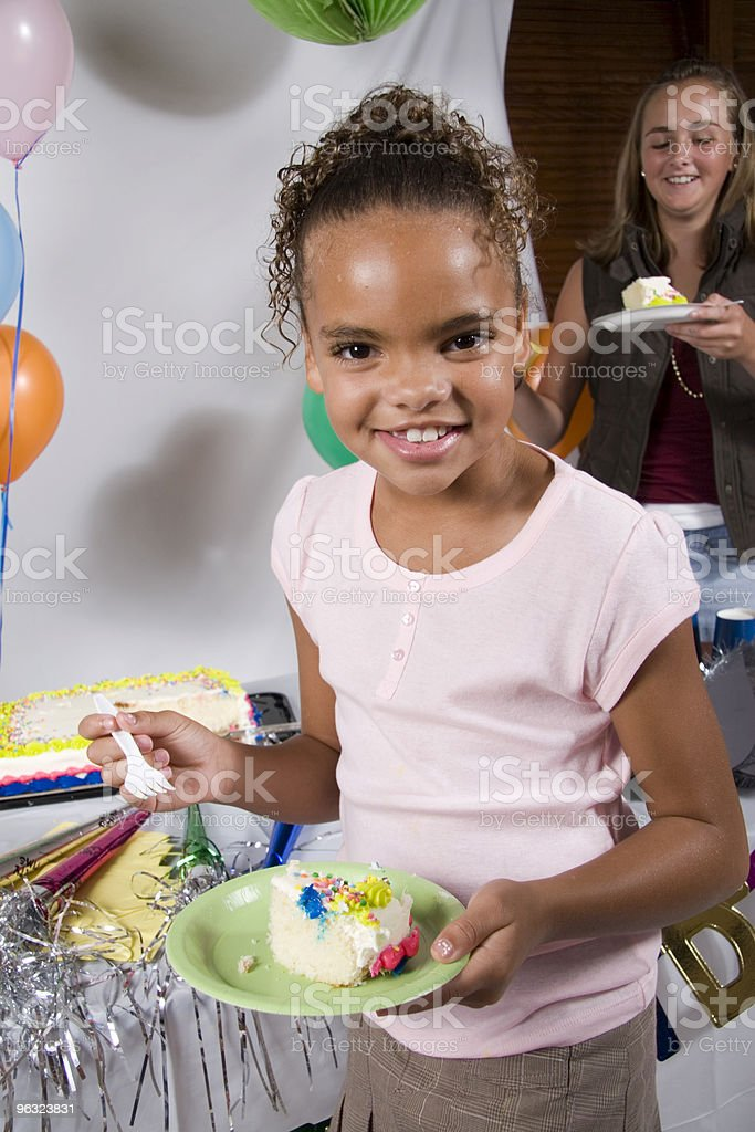 Eating Birthday Cake royalty-free stock photo