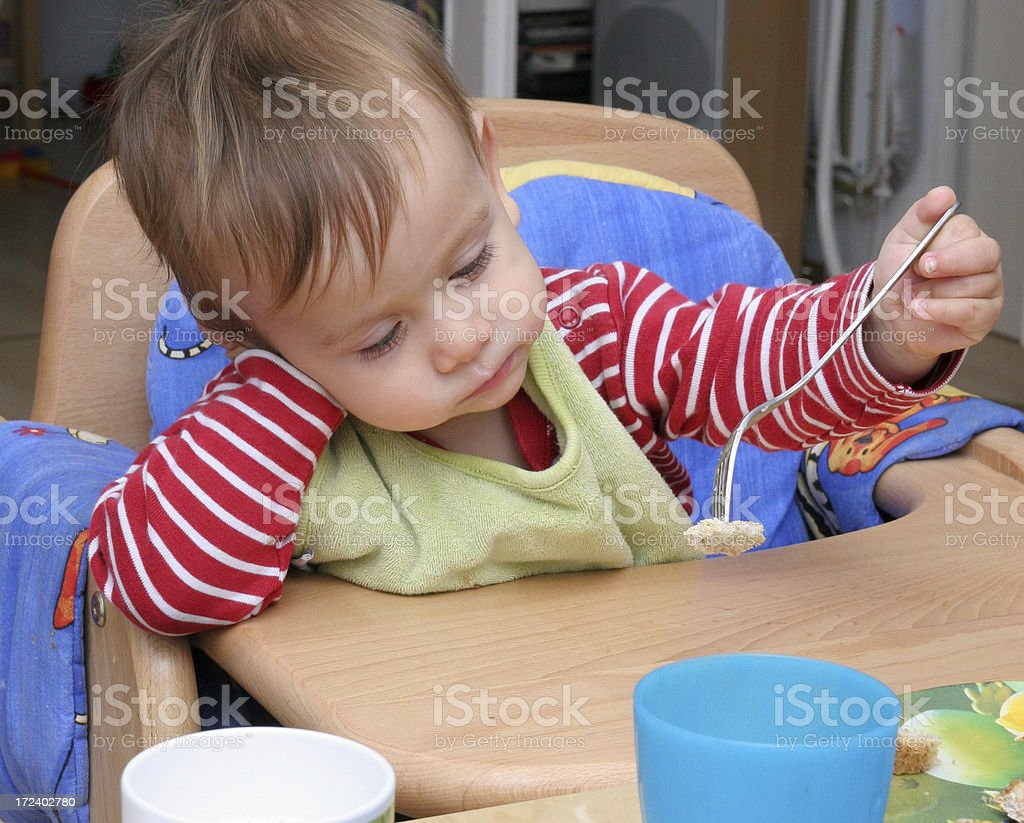 Eating bores me stock photo