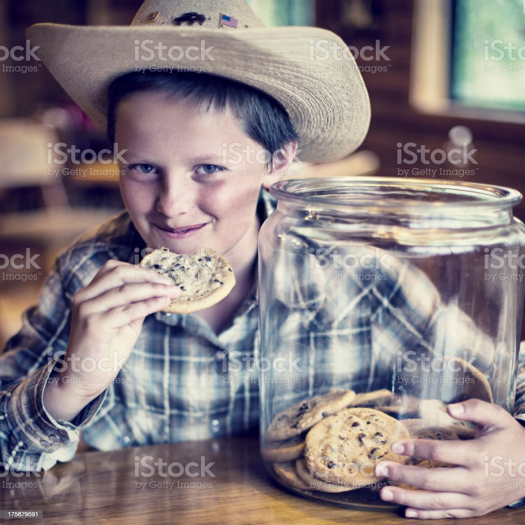 Eating cookies royalty-free stock photo
