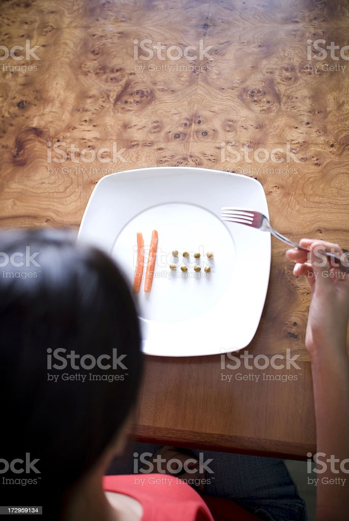 Eating Disorder royalty-free stock photo