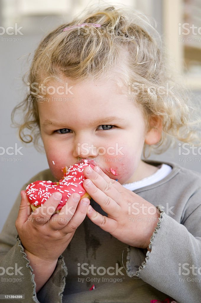 Eating Donut royalty-free stock photo
