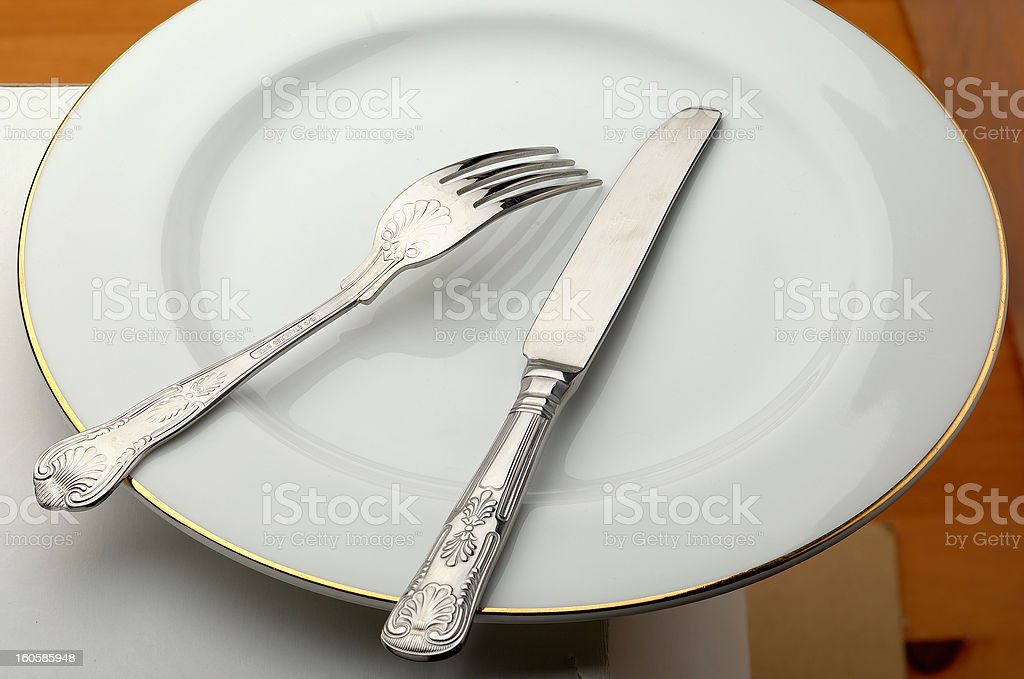 eating equipment royalty-free stock photo