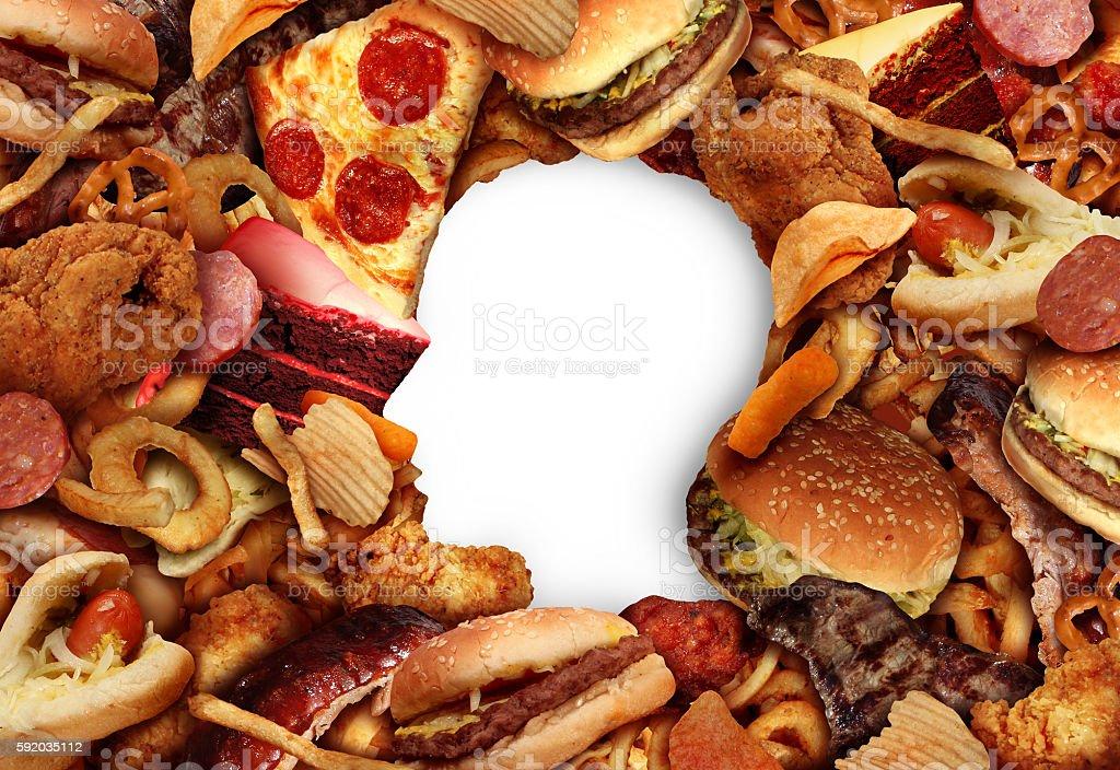 Eating Fatty Food stock photo