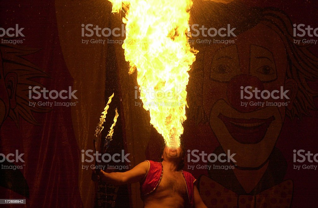 eating fire royalty-free stock photo