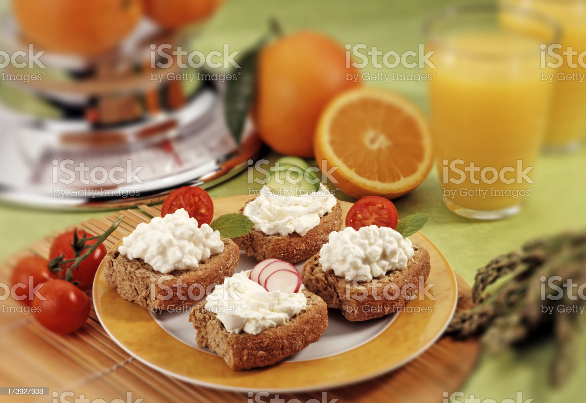Eating healthy and nutrient royalty-free stock photo