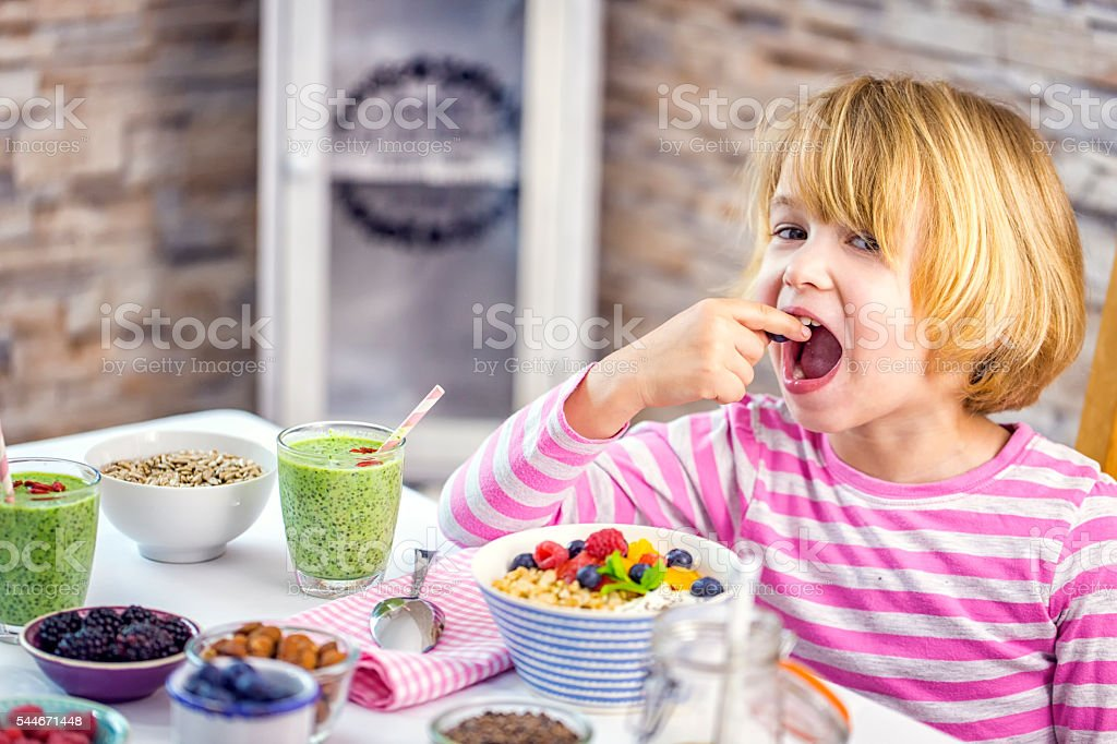 Eating Healthy Superfood Dishes stock photo