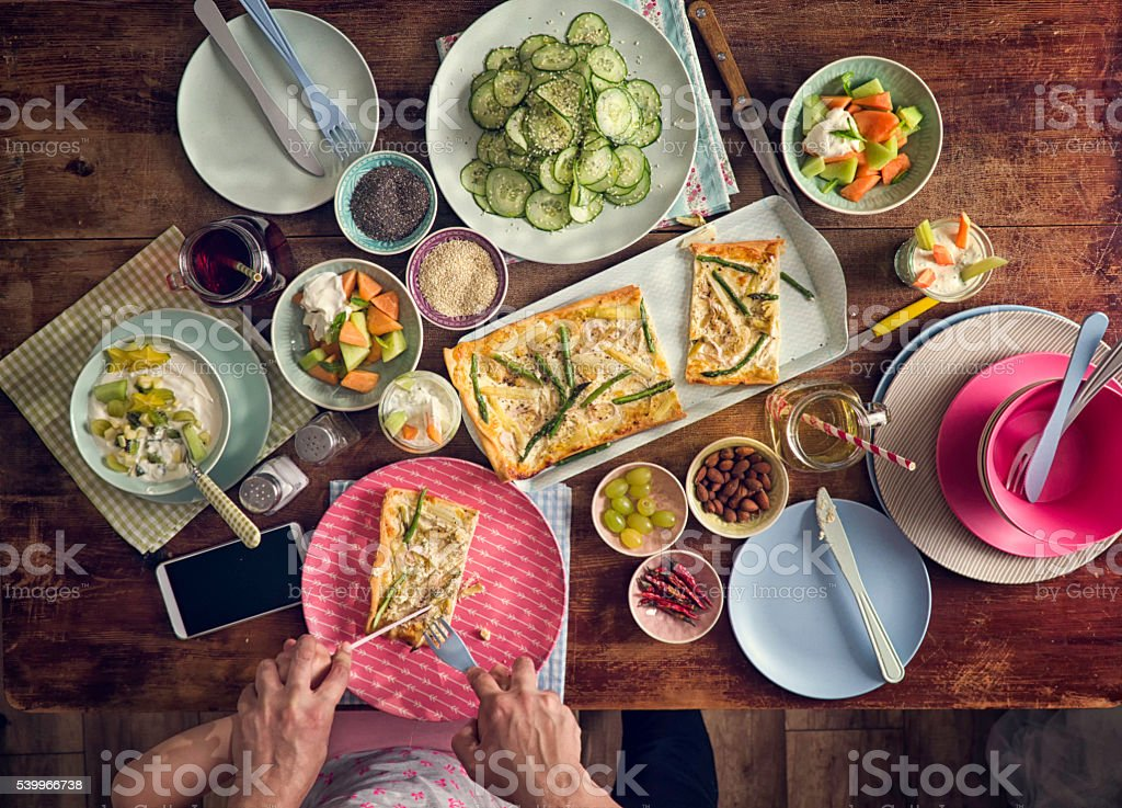 Eating Healthy Vegetarian Summer Dishes stock photo