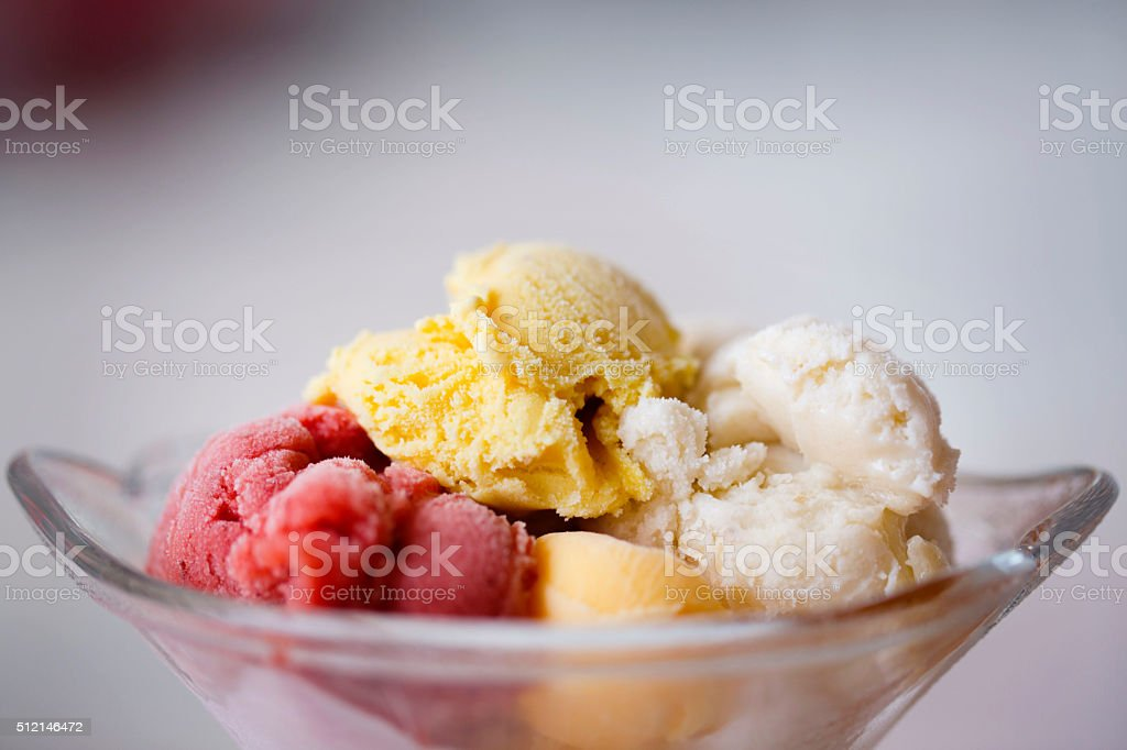 Eating Ice Cream stock photo