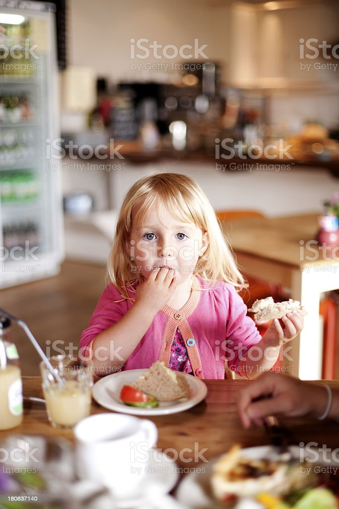 Eating in a cafe royalty-free stock photo