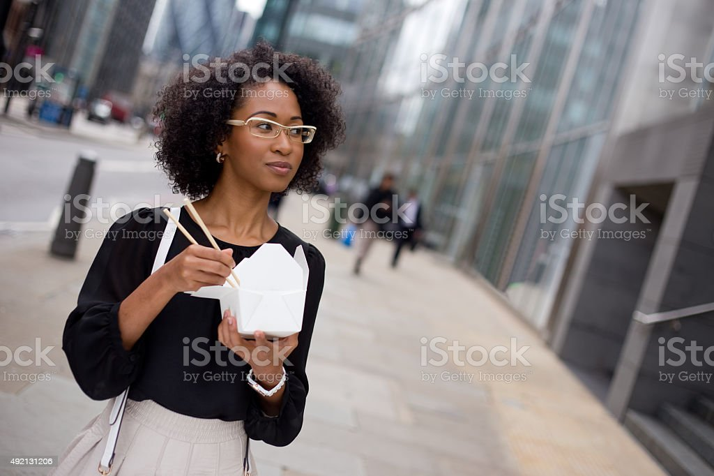 eating in the street royalty-free stock photo