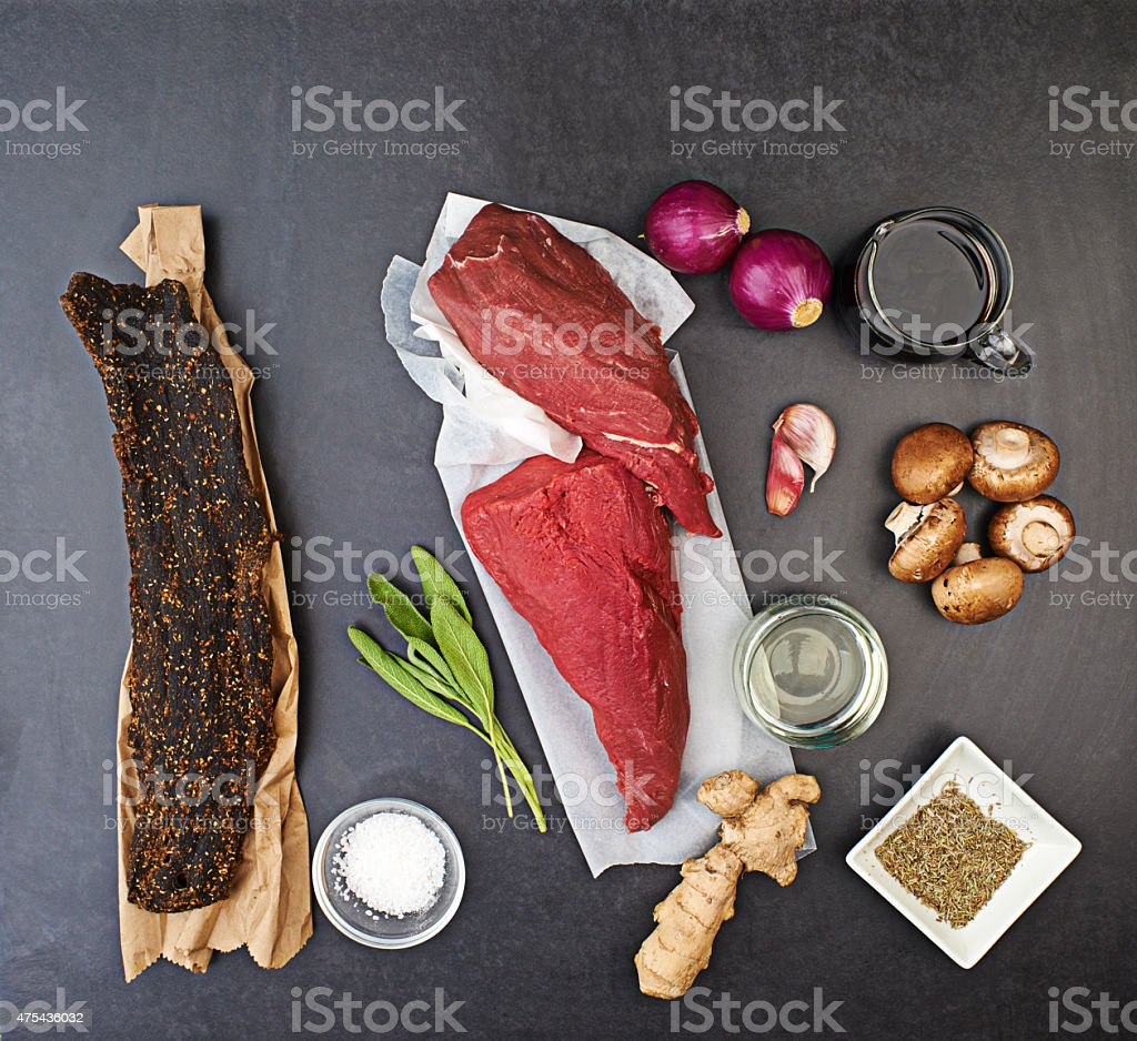 Eating is a necessity but cooking is an art stock photo