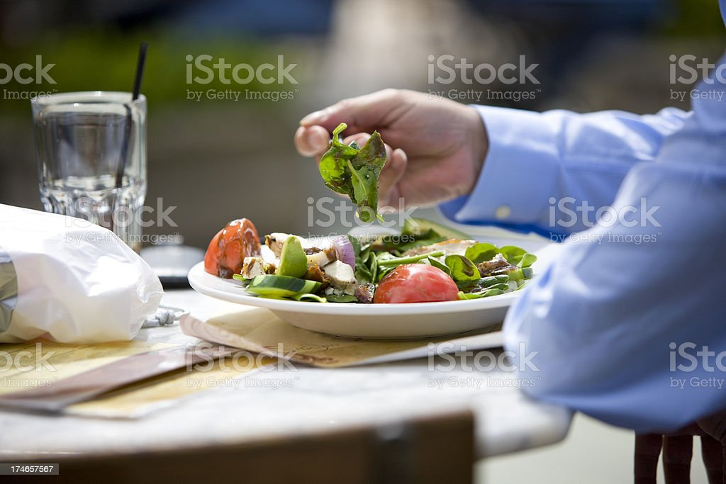 Eating Lunch royalty-free stock photo