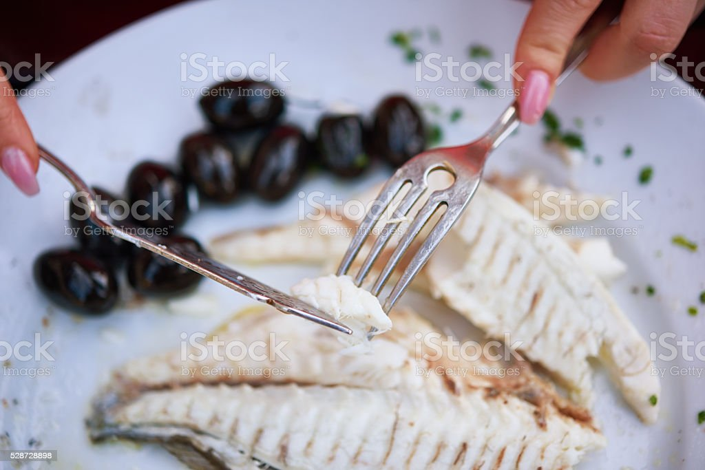 eating my healthy lunch stock photo