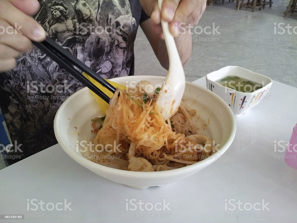 Eating Noodle royalty-free stock photo