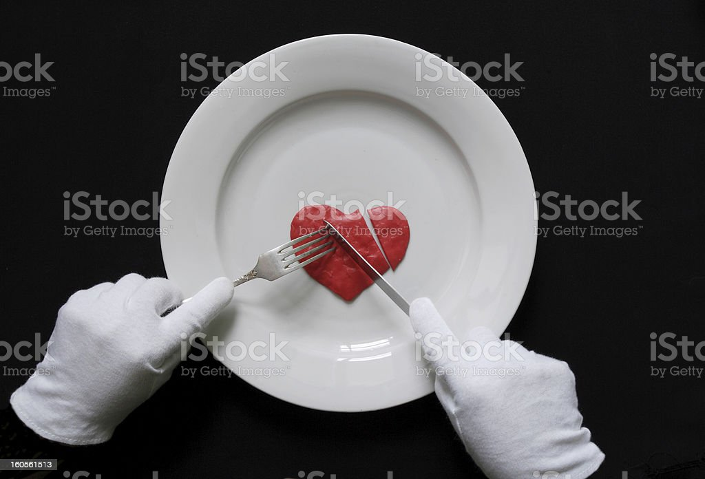 Eating of the human heart royalty-free stock photo