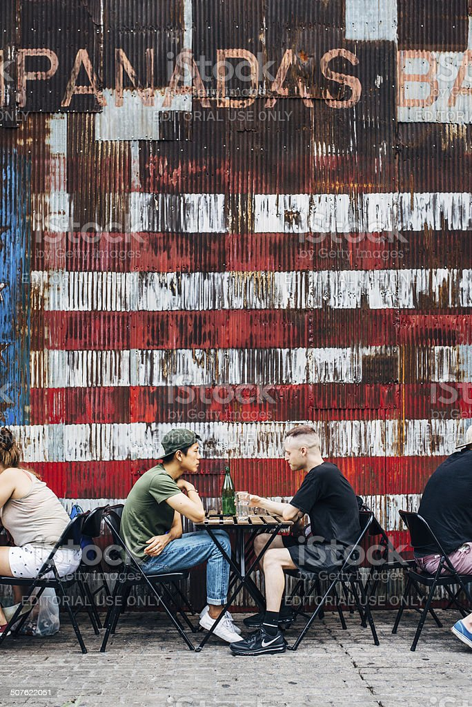 Eating Out in Williamsburg Brooklyn New York stock photo