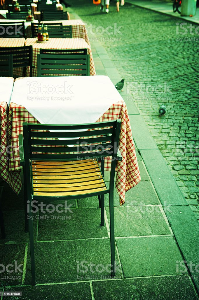 Eating out royalty-free stock photo