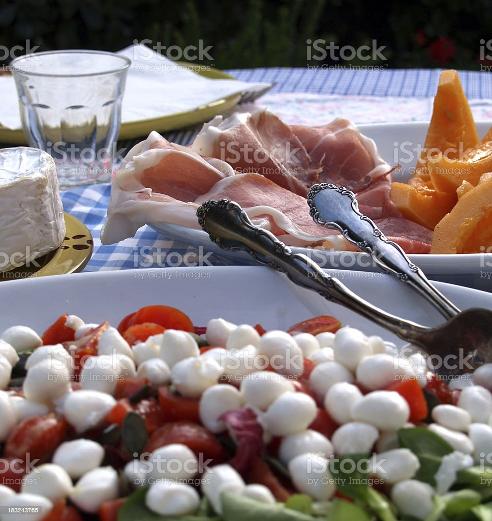Eating Outside. Italian Appetizers royalty-free stock photo