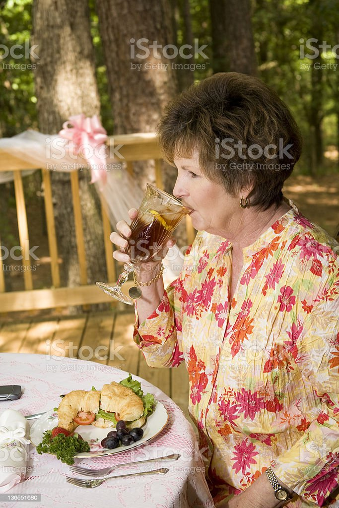 Eating outside royalty-free stock photo
