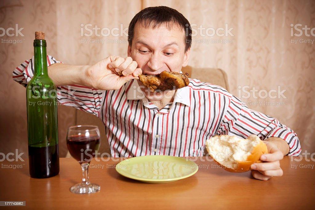 Eating. royalty-free stock photo