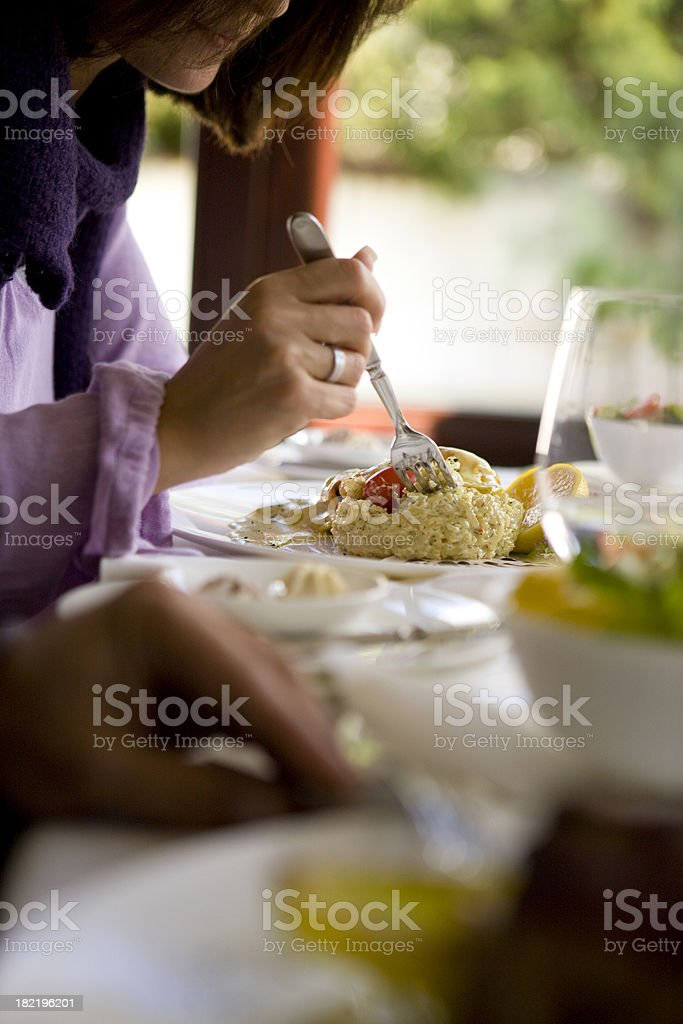 Eating royalty-free stock photo
