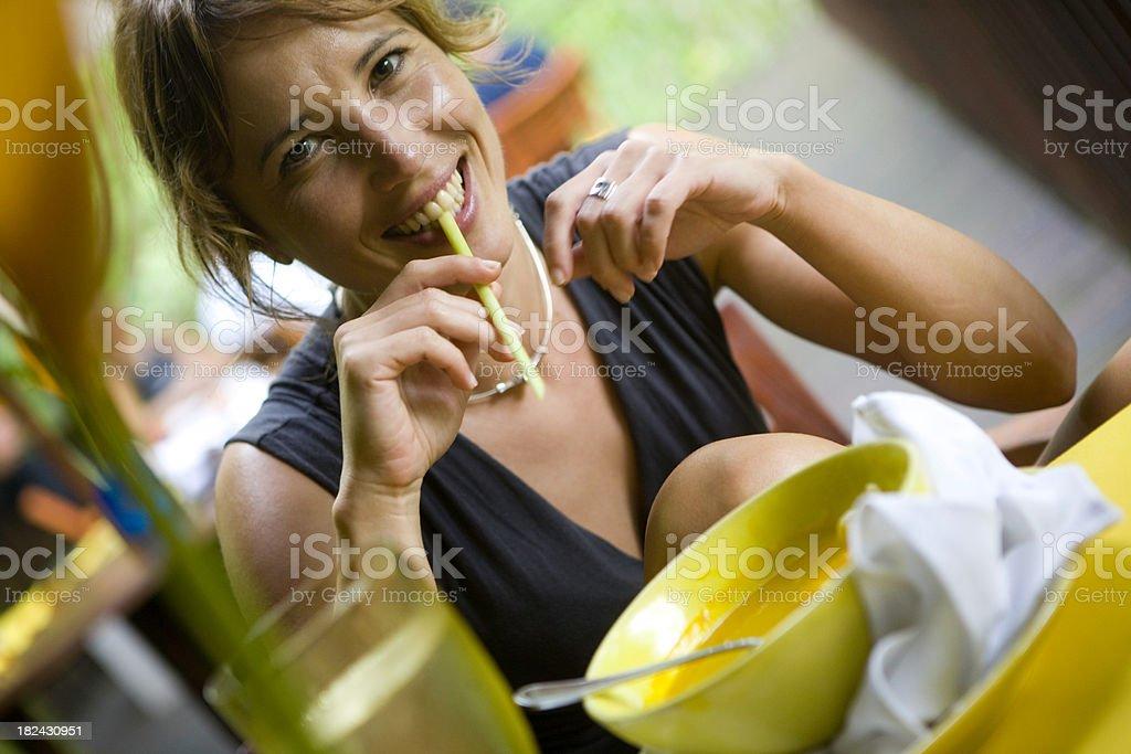Eating royalty-free stock photo