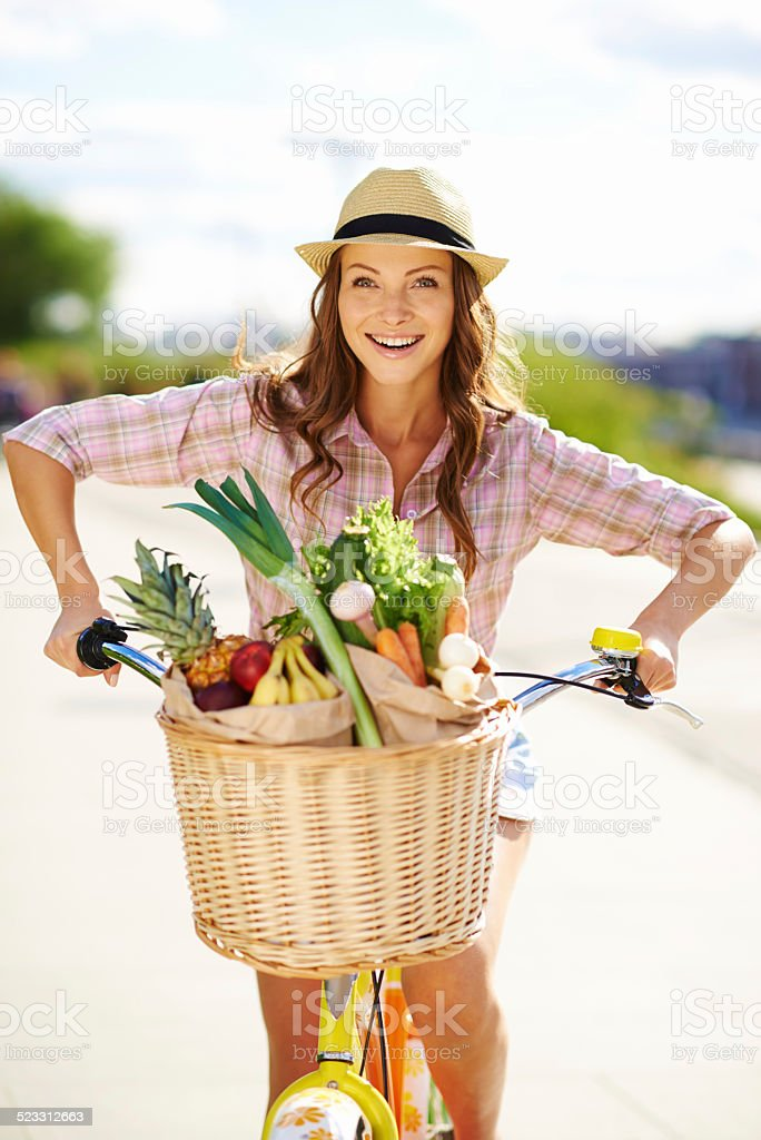Eating right and keeping fit stock photo