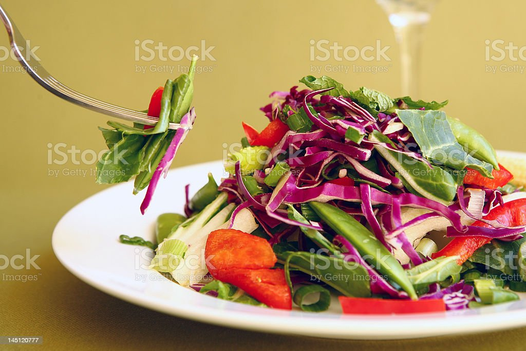 Eating Salad royalty-free stock photo