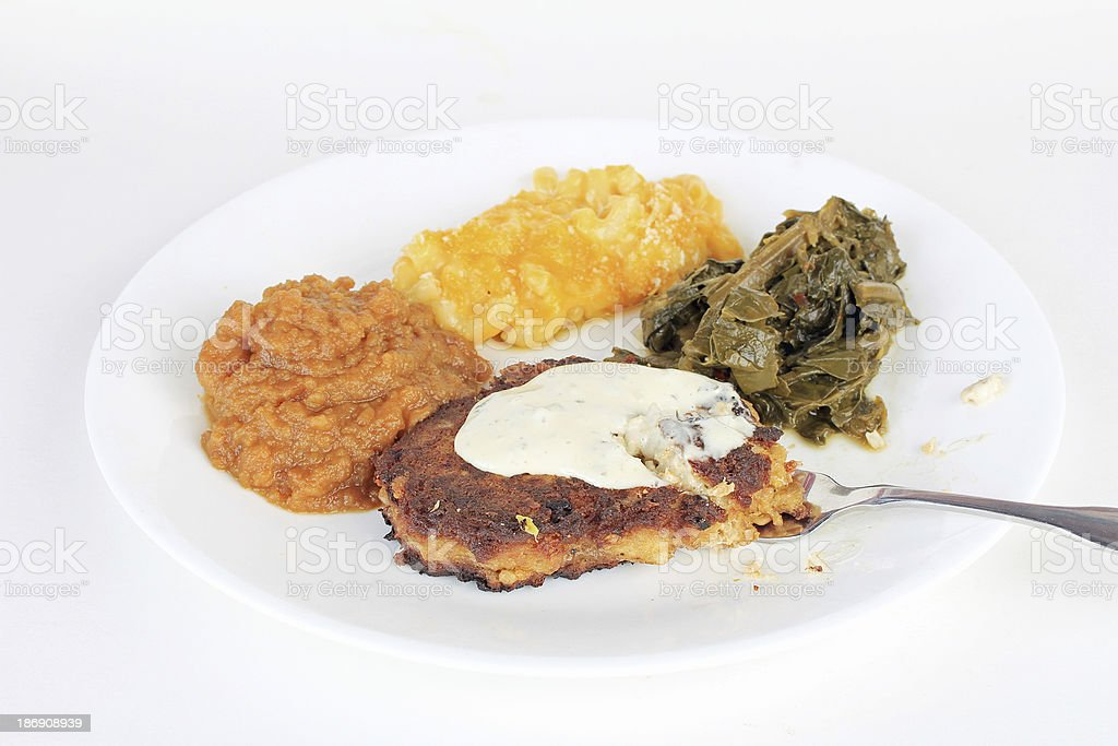 Eating Soul Food stock photo