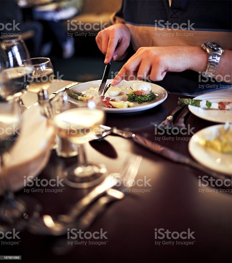 Eating the starter royalty-free stock photo