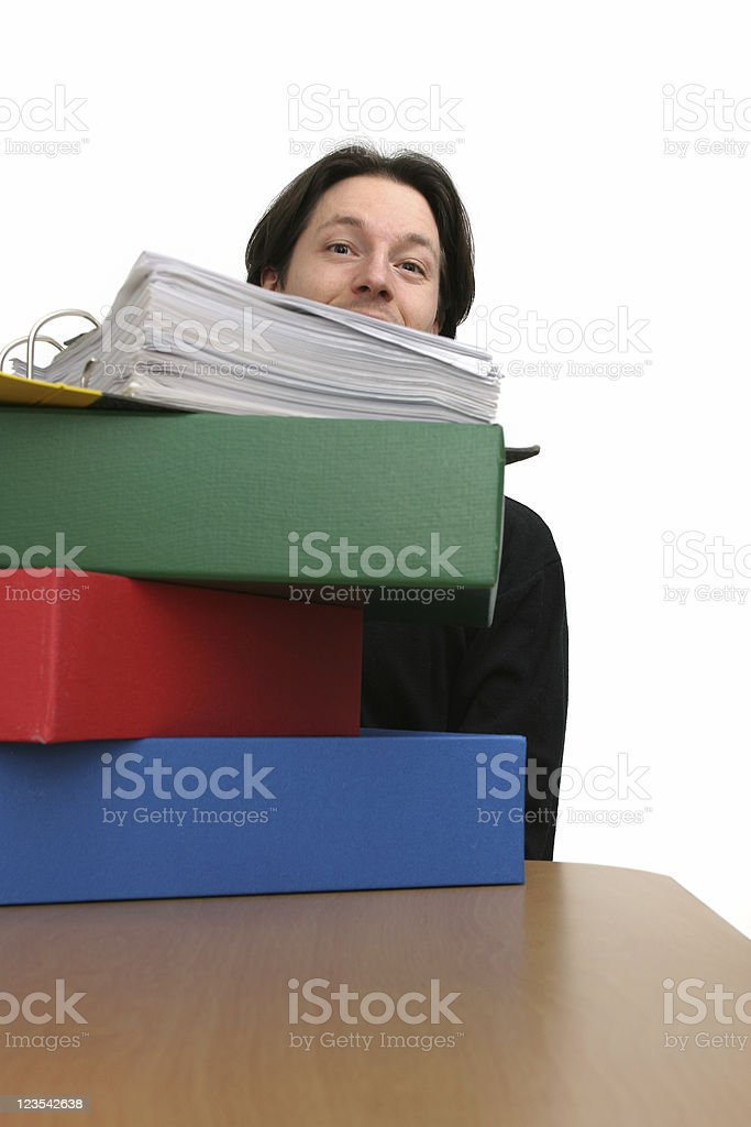 Eating through the paper work royalty-free stock photo