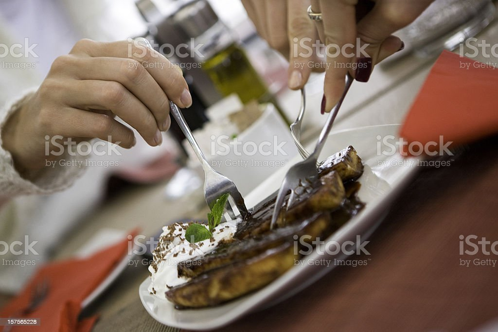 Eating together royalty-free stock photo