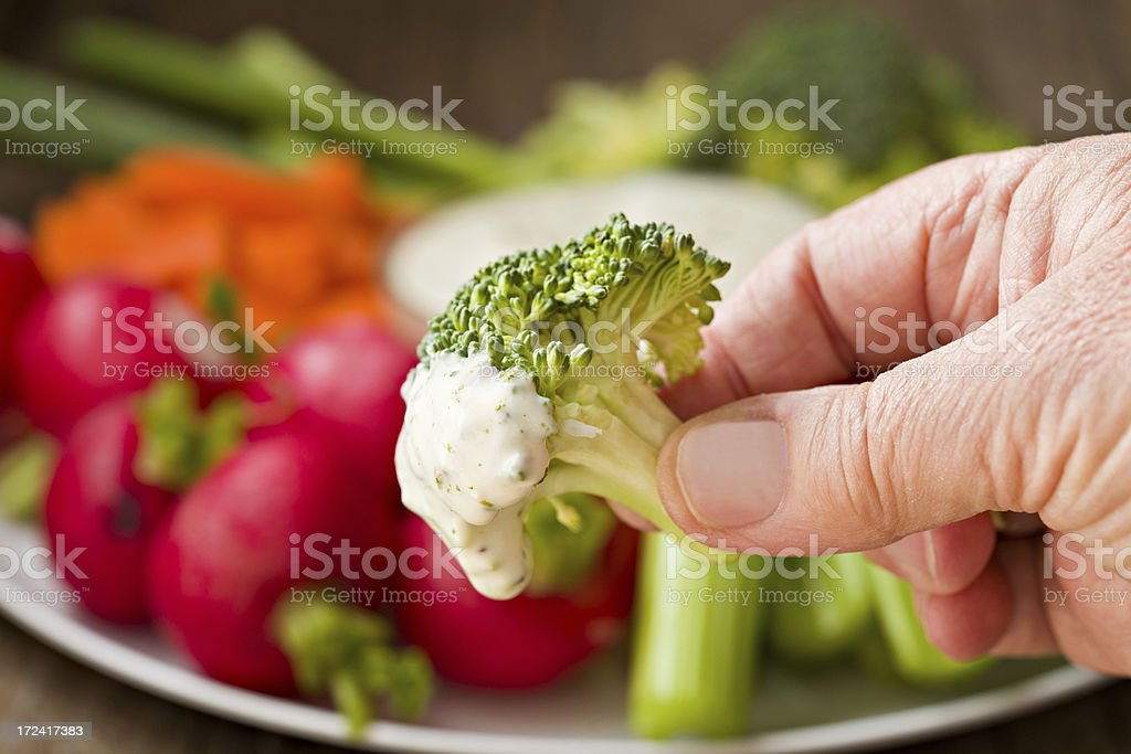 Eating Vegetables royalty-free stock photo