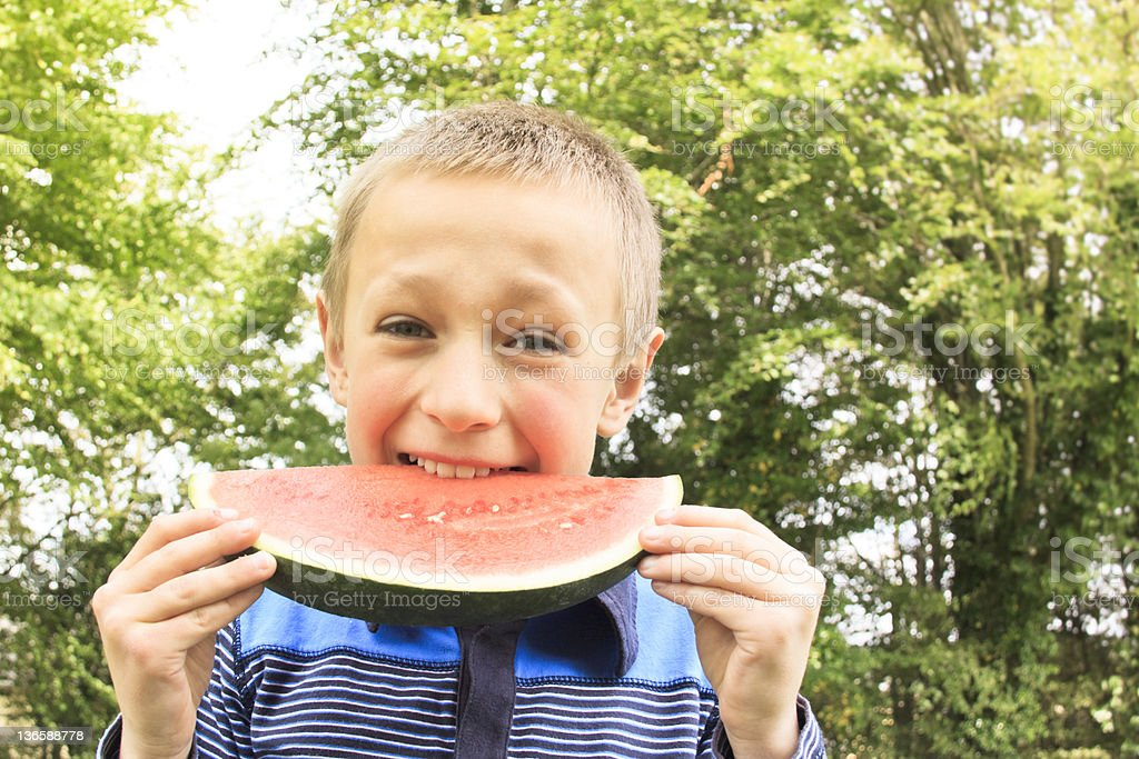 Eating Watermelon royalty-free stock photo