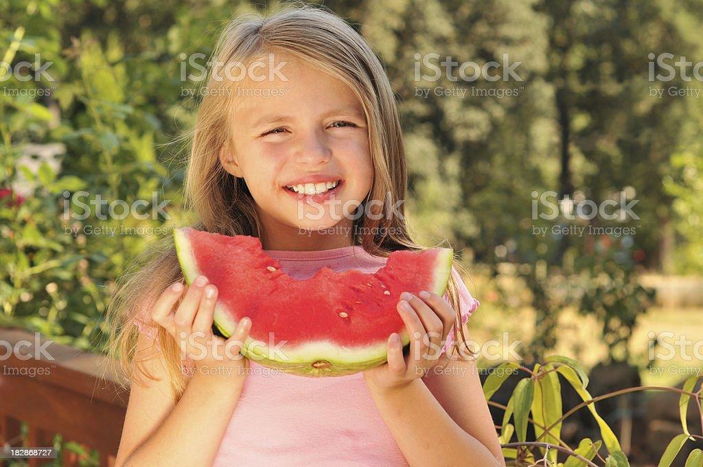 Eating Watermelon royalty-free stock photo