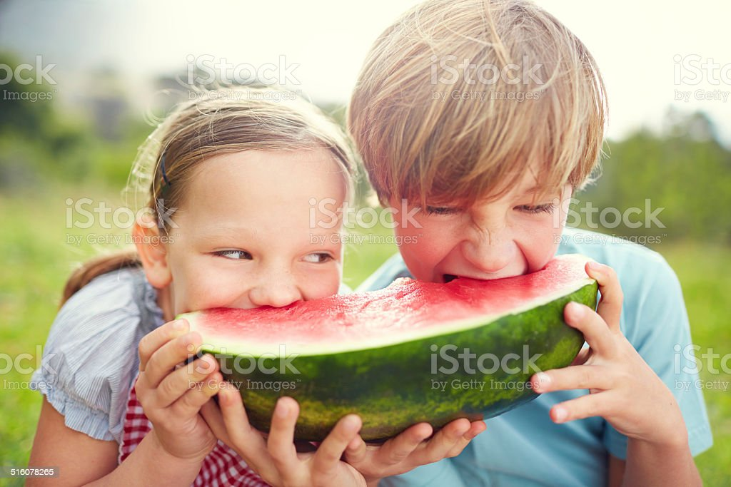 Eating with enthusiasm stock photo