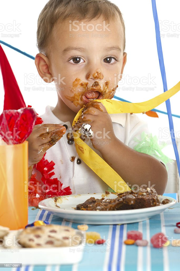 Eating with fingers royalty-free stock photo