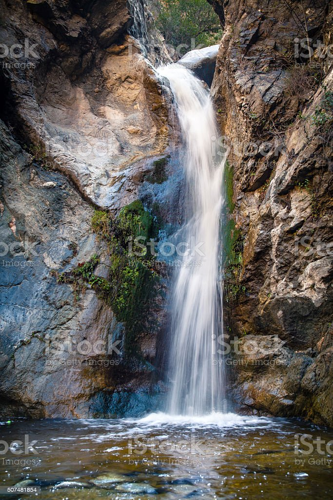 Eaton Canyon Falls Waterfall, San Gaberial Mountains, Angeles National Forest royalty-free stock photo