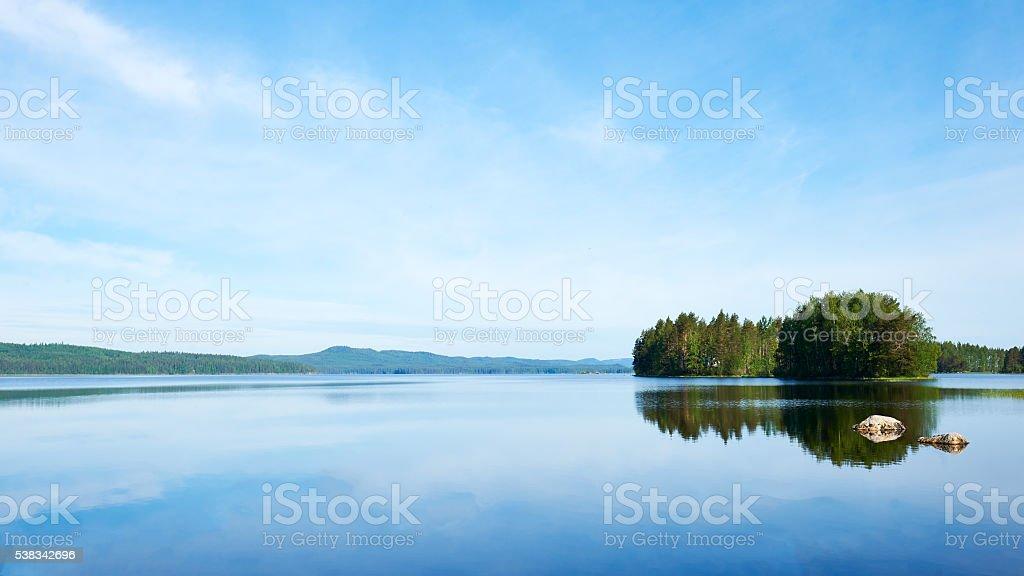 eautiful Finnish landscape stock photo