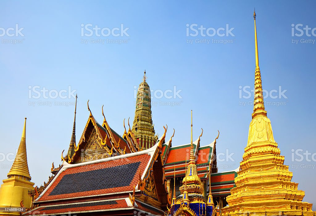 Eaves of the Grand Palace royalty-free stock photo