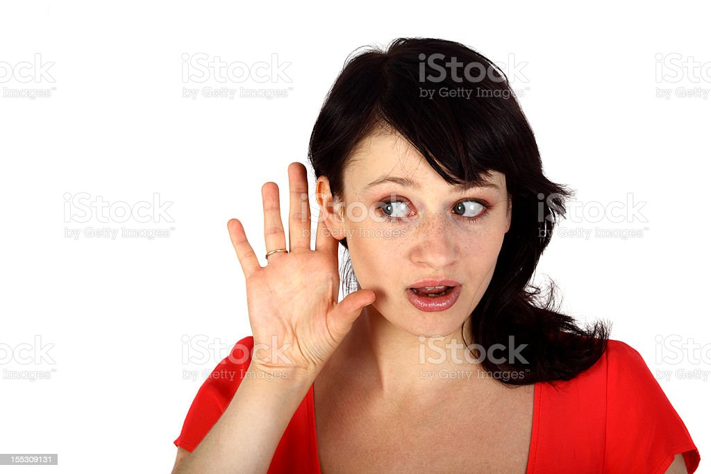 eavesdropping stock photo
