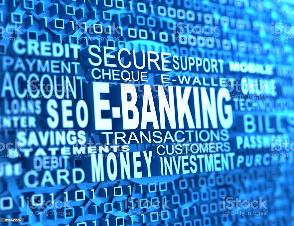 e-banking stock photo