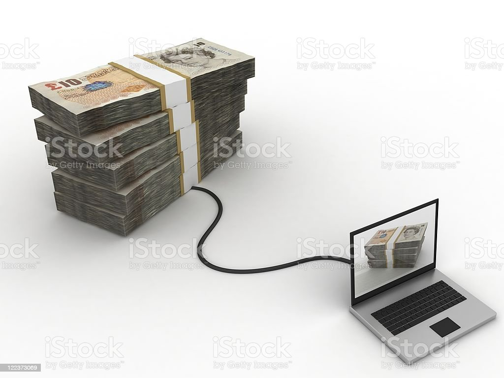 E-Banking - Pounds royalty-free stock photo