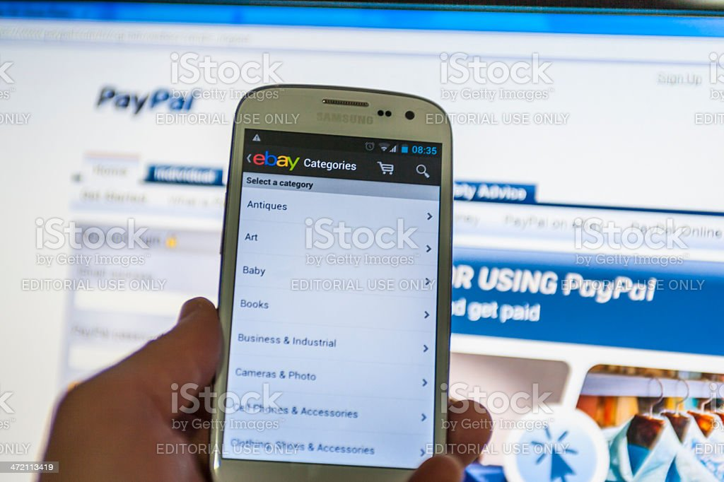 Ebay and PayPal stock photo