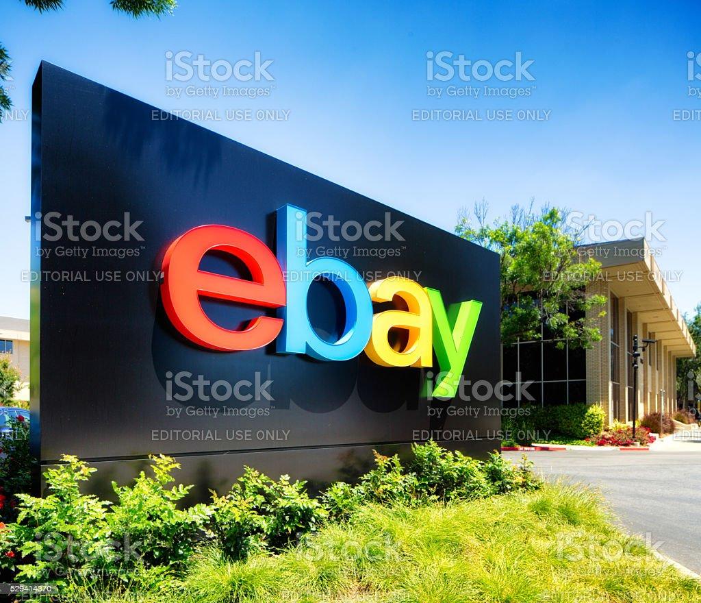 Ebay campus entrance sign San Jose California stock photo
