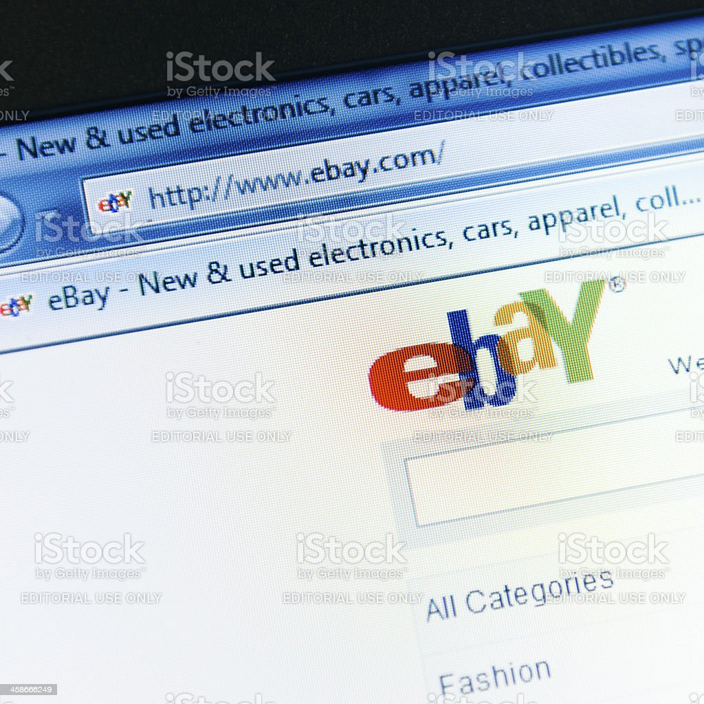 Ebay.com main page - english version site royalty-free stock photo