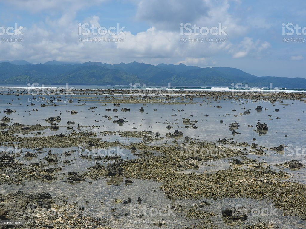 ebb on gili trawangan stock photo