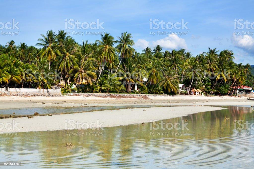 Ebbe tide at west coast of Ko Samui stock photo