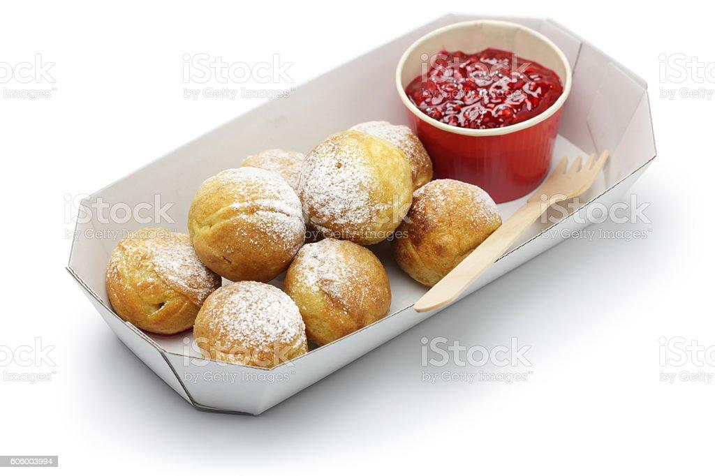 ebelskiver, danish christmas pancake puffs stock photo
